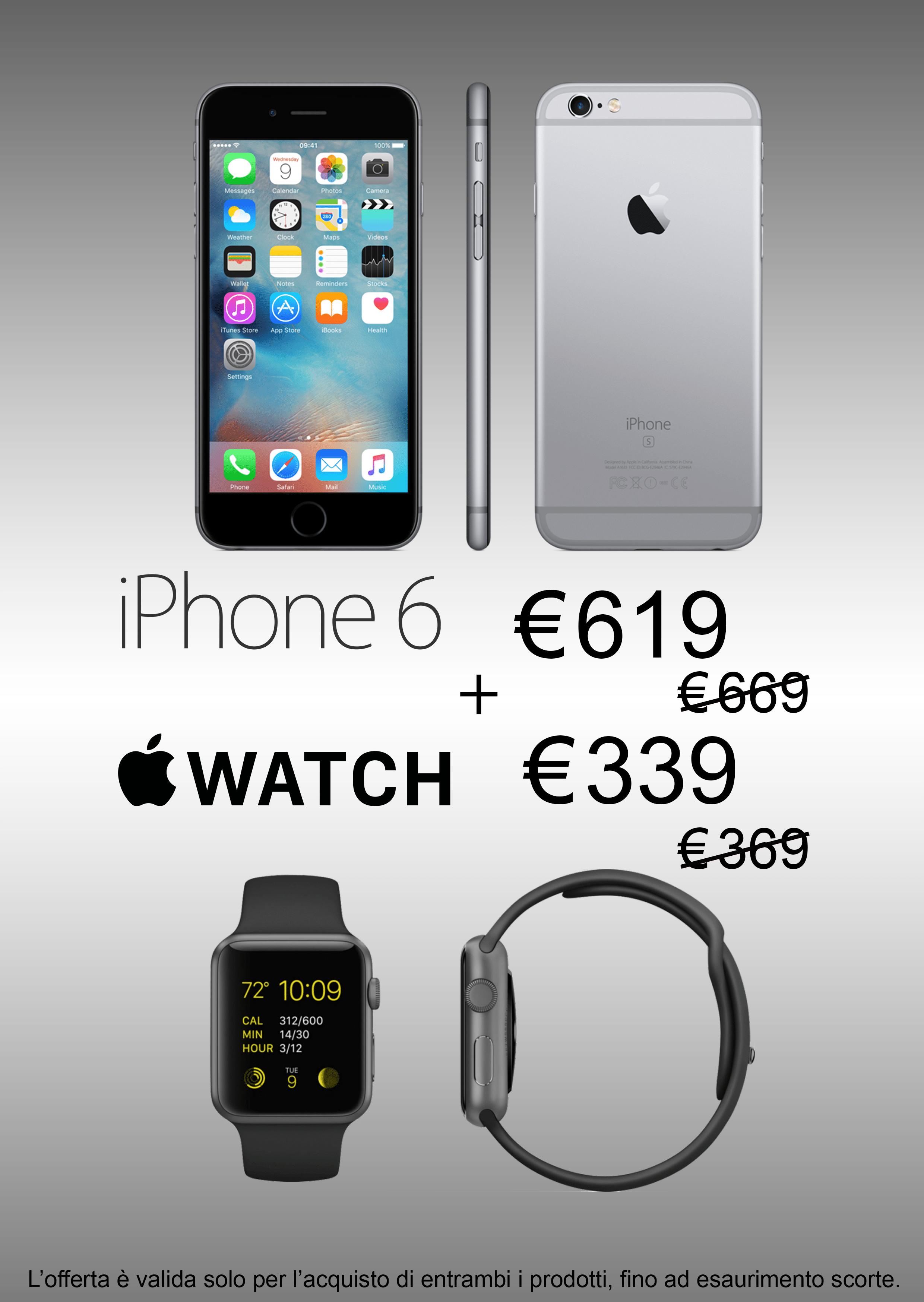 offerta combinata iphone apple watch