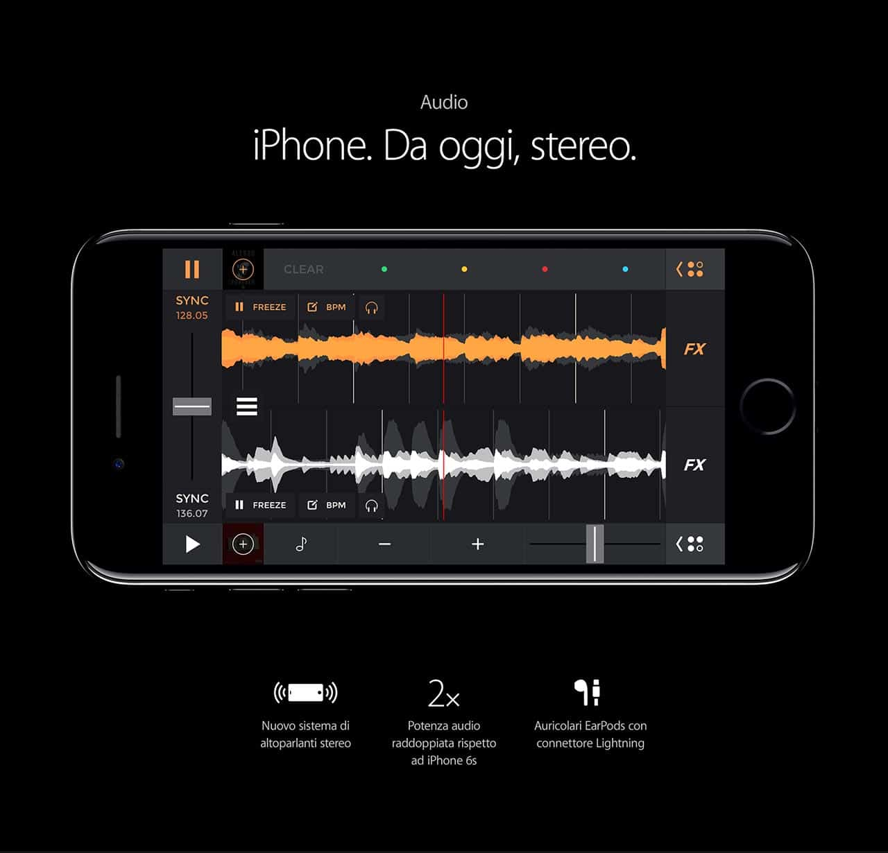 iPhone 7 caratteristiche Audio