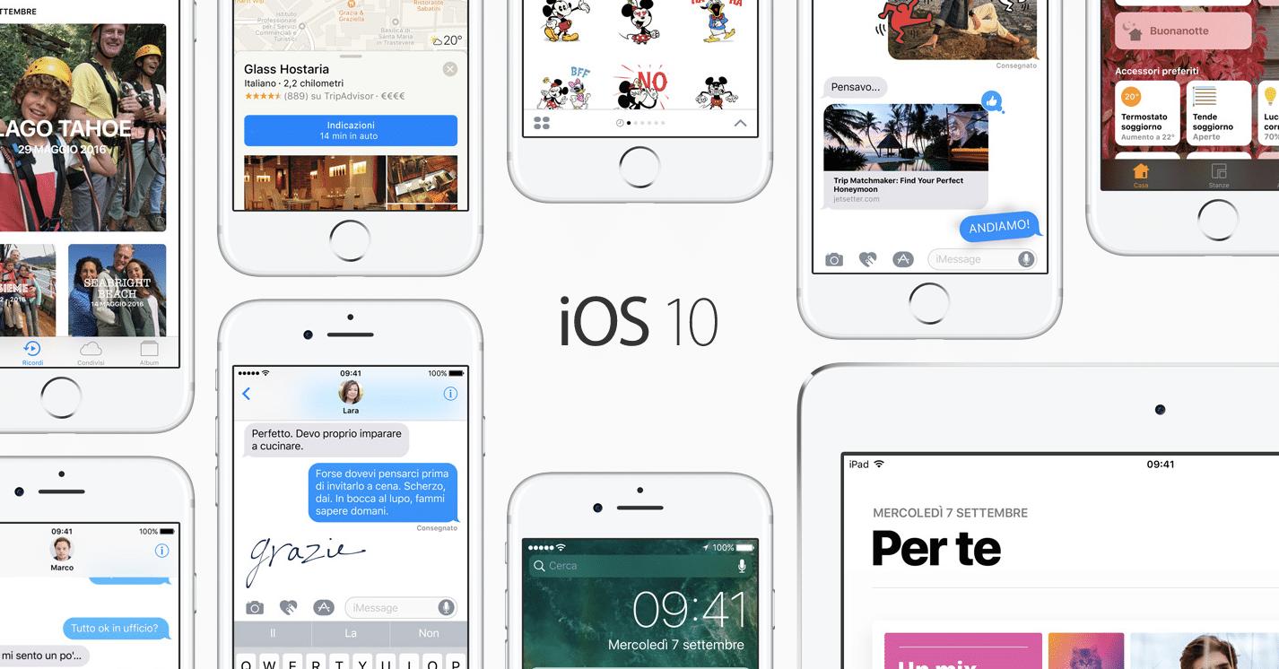 Aggiornamento iMessagge iOS 10