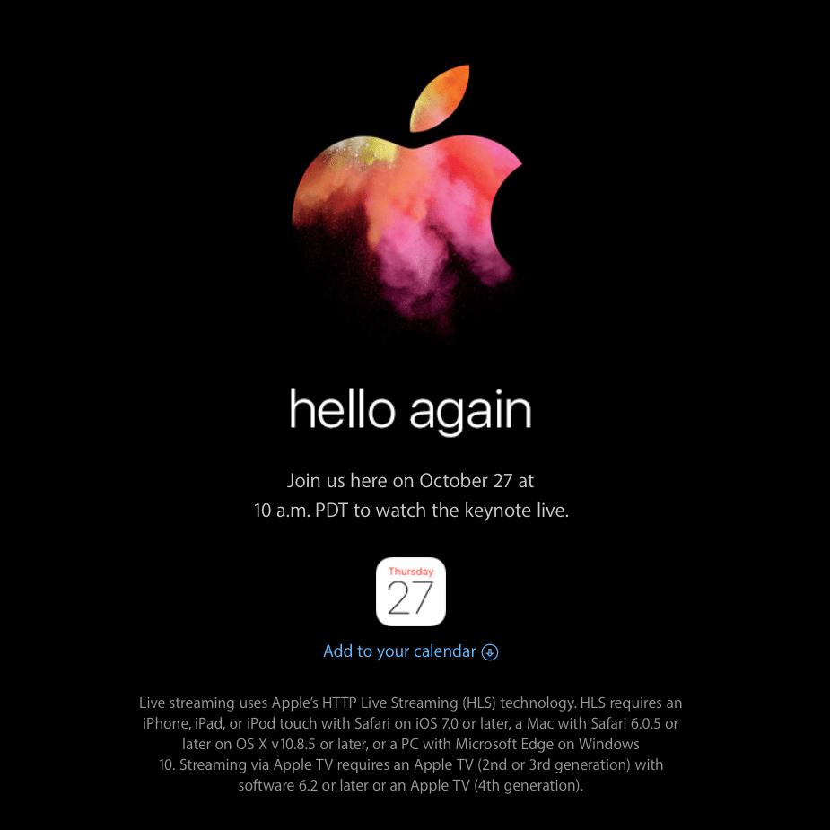 Non perdere il prossimo keynote Apple