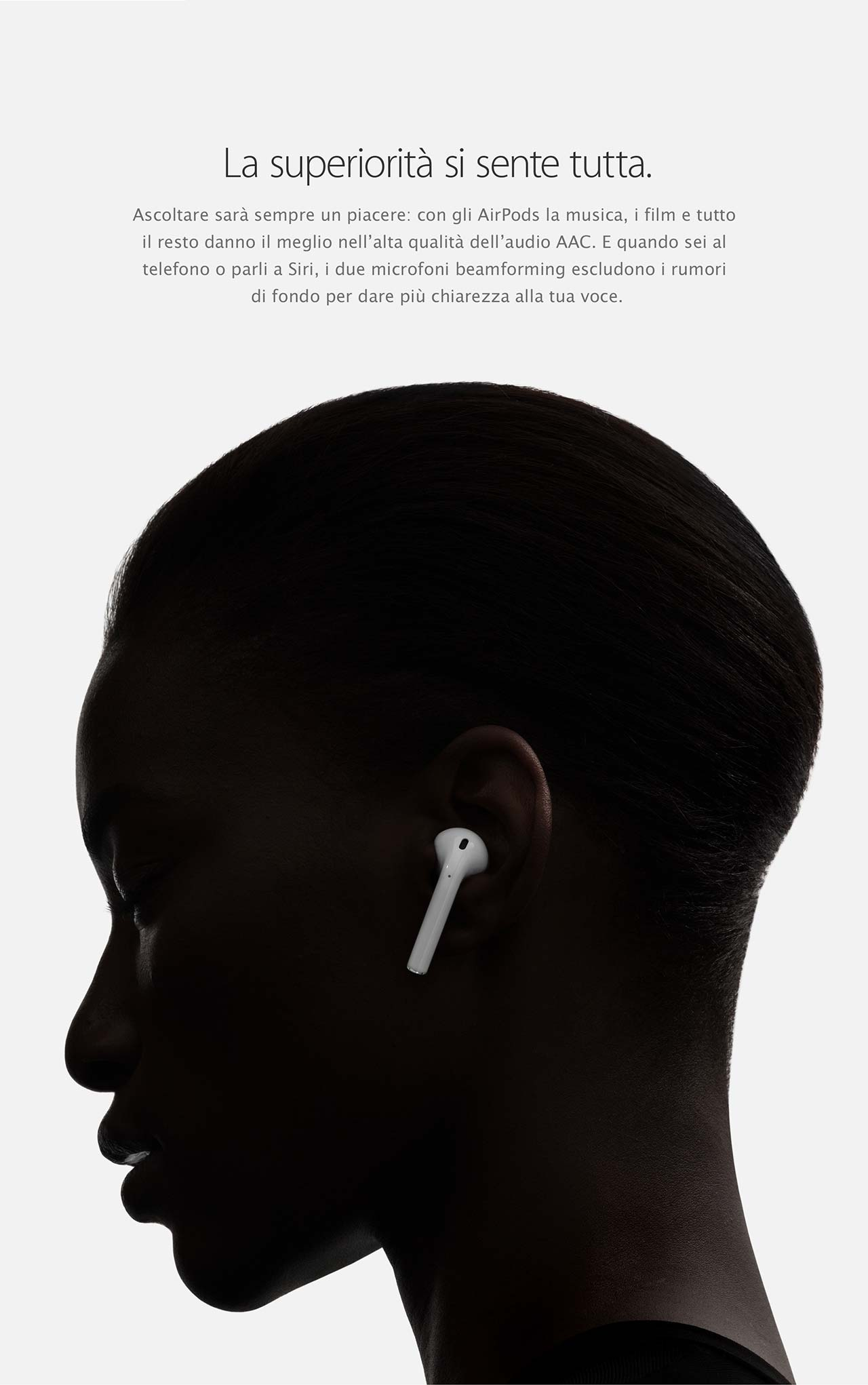 AirPods indossato