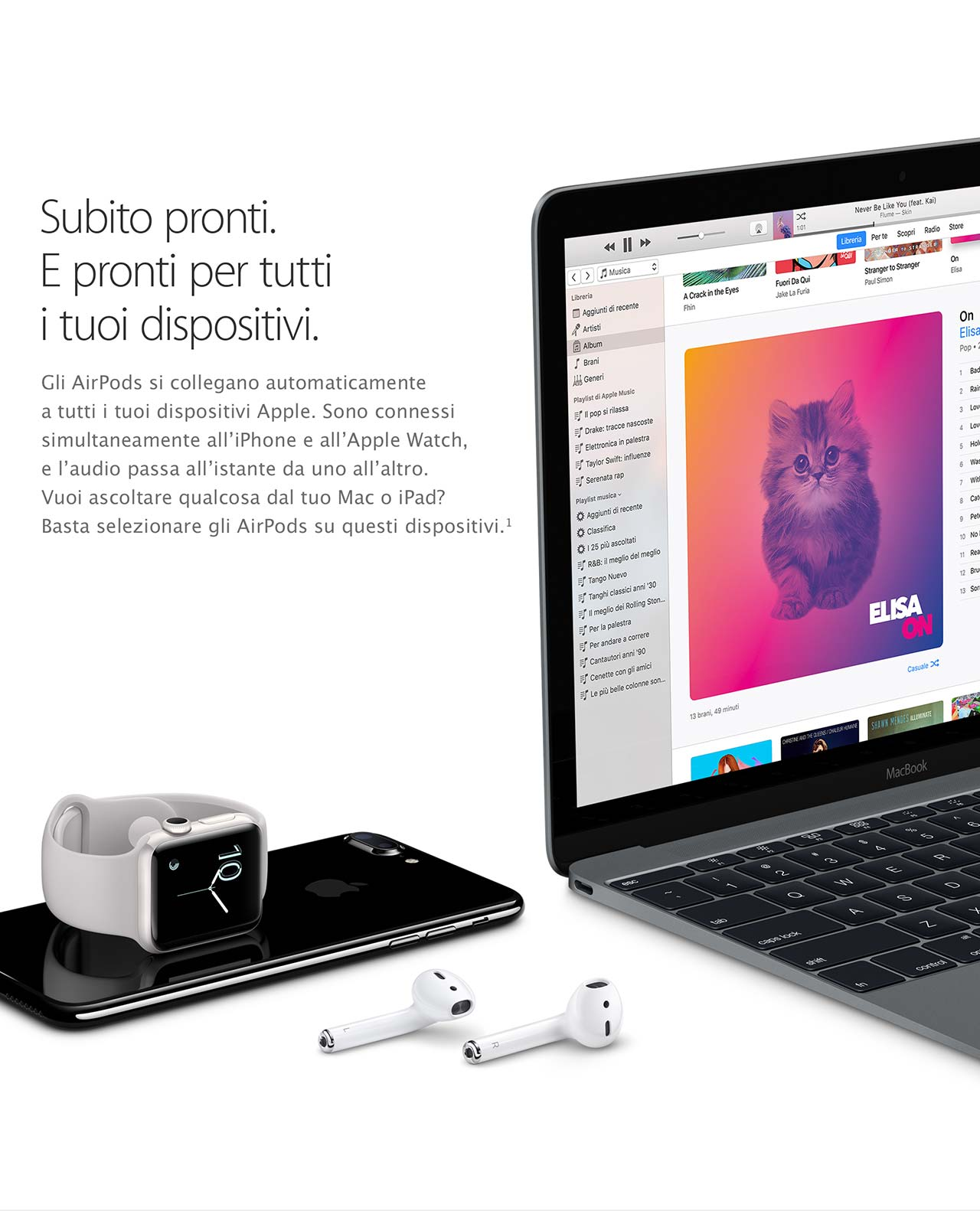 AirPods connessi ad altri dispositivi Apple