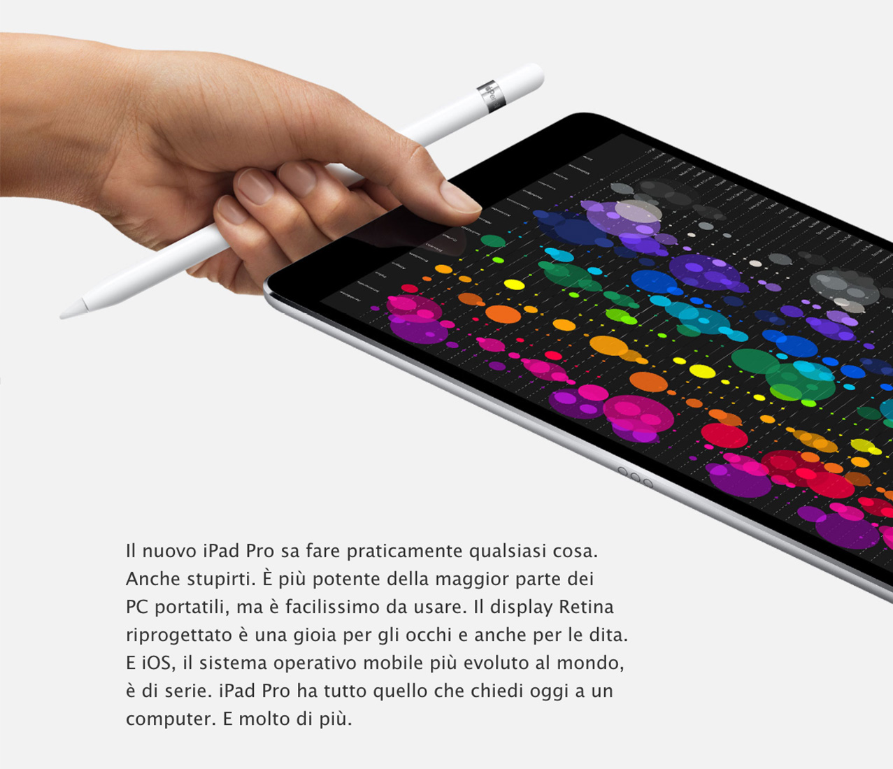 iPad Pro banner con Apple Pencil