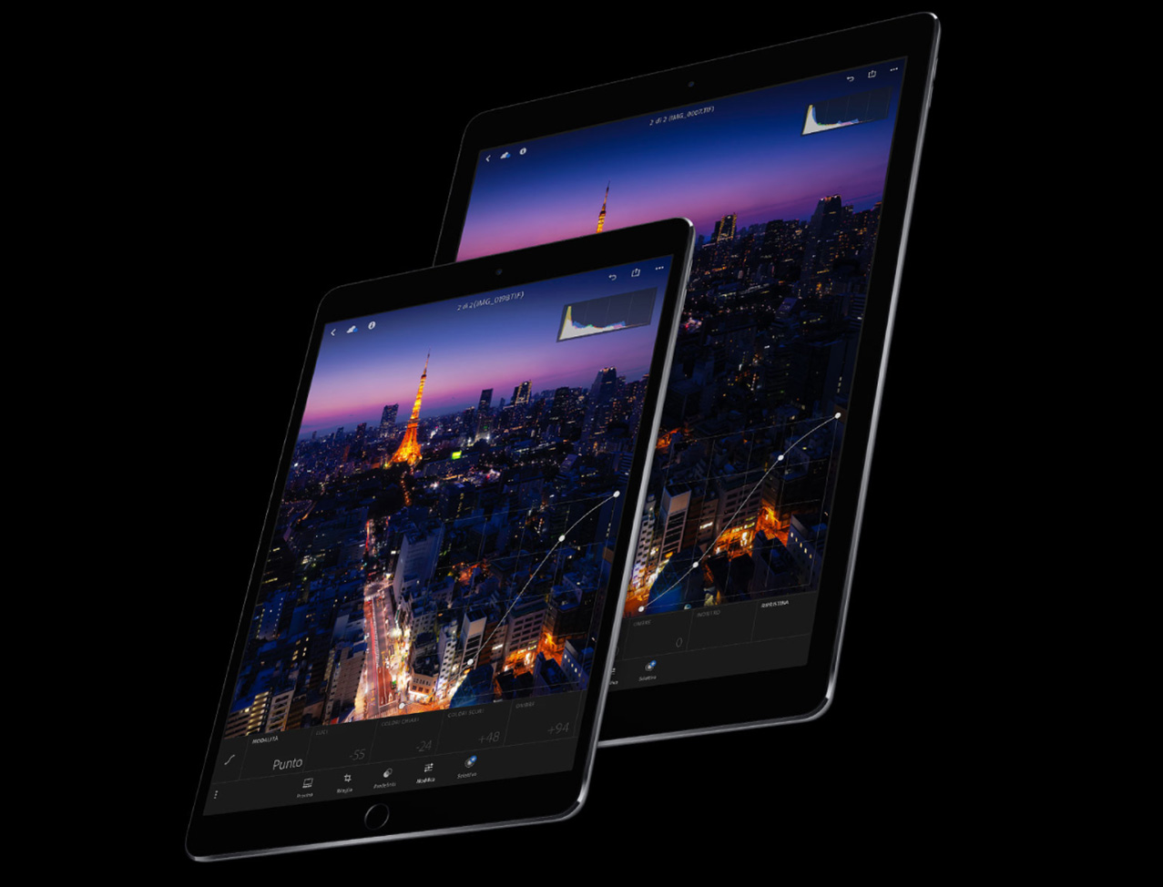 iPad Pro luminosità