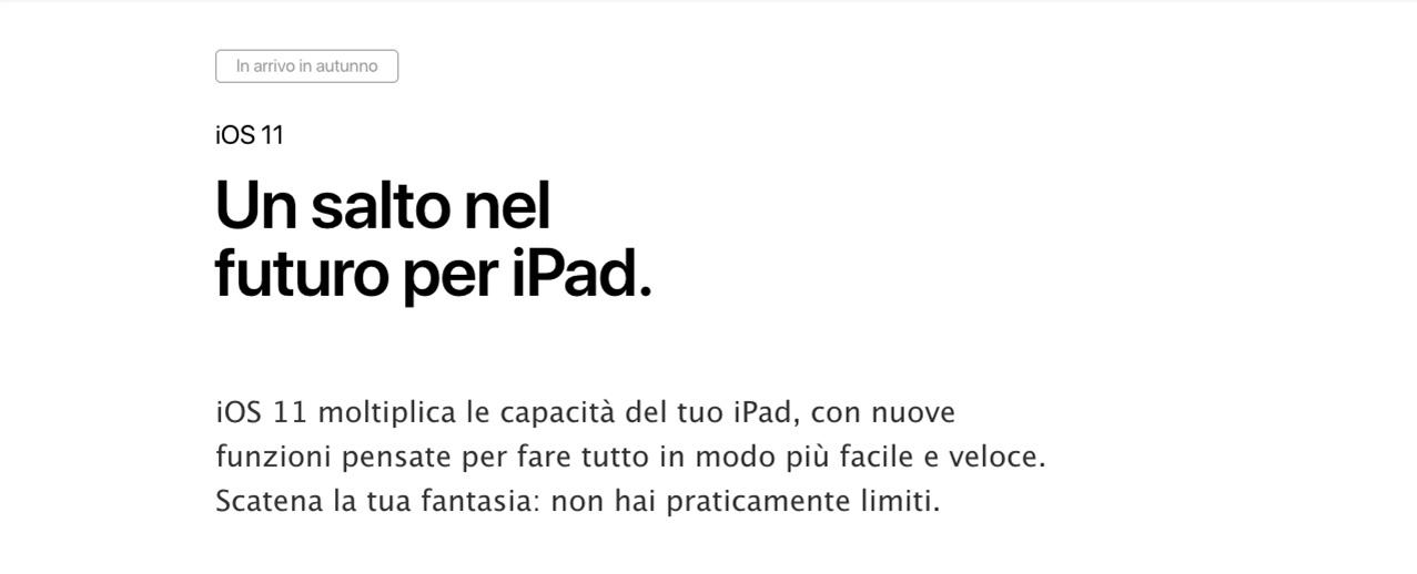 iPad Pro con iOS 11