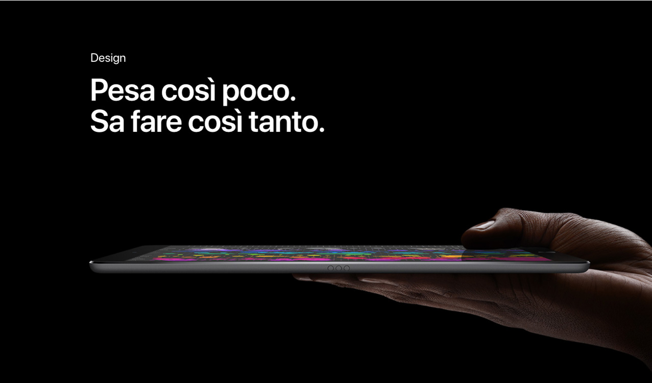 iPad Pro design profilo
