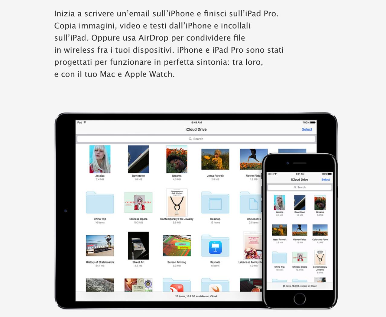 iPad Pro con iCloud drive