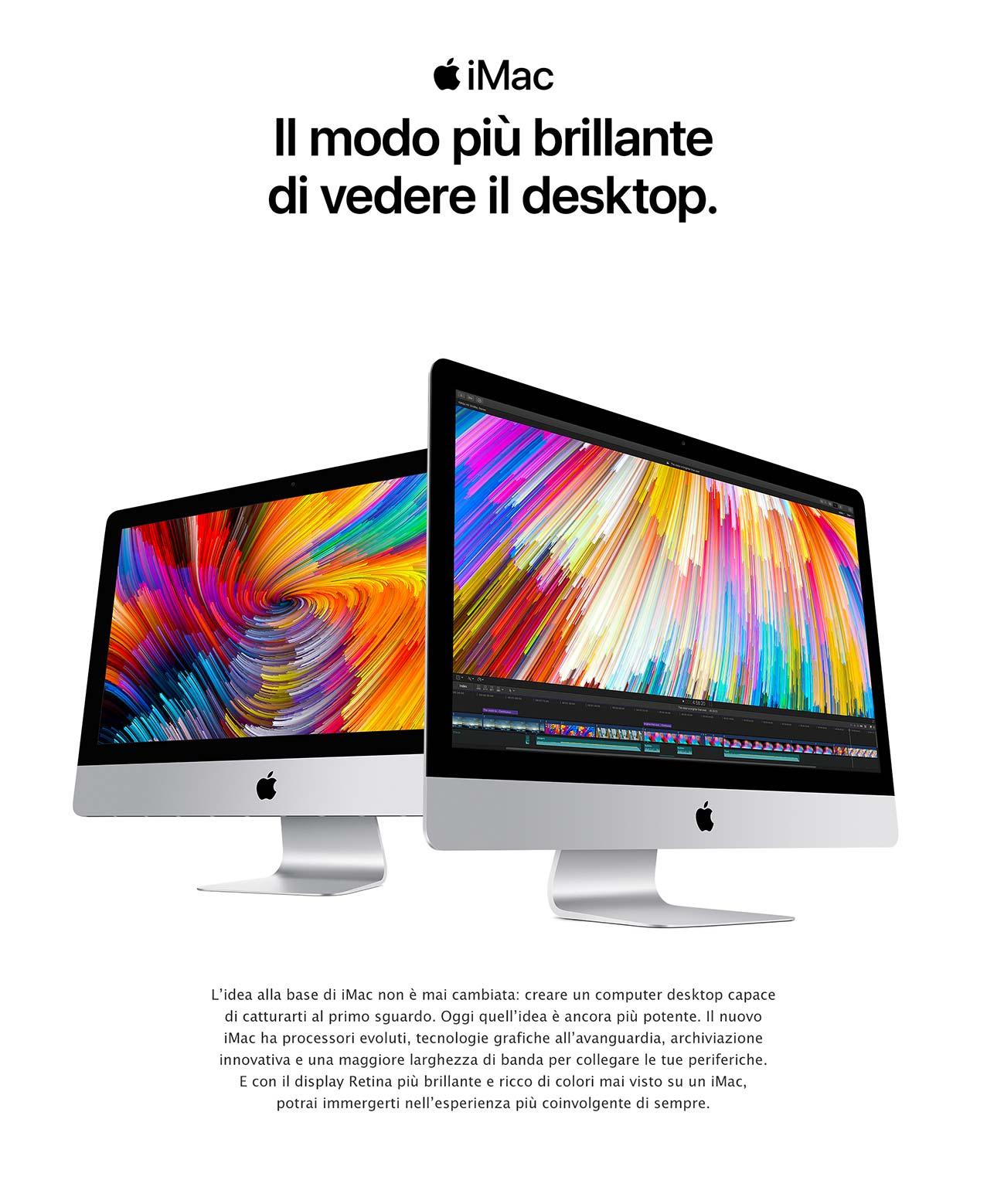 iMac desktop brillante