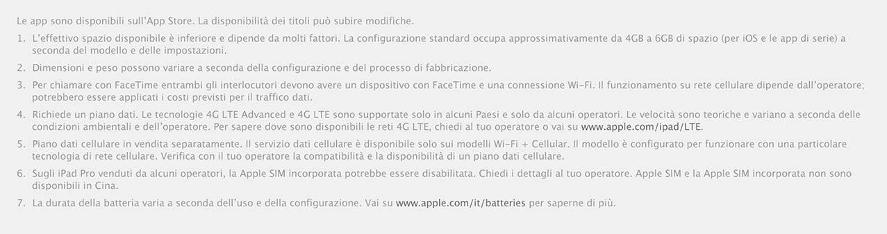 iPad descrizione APP