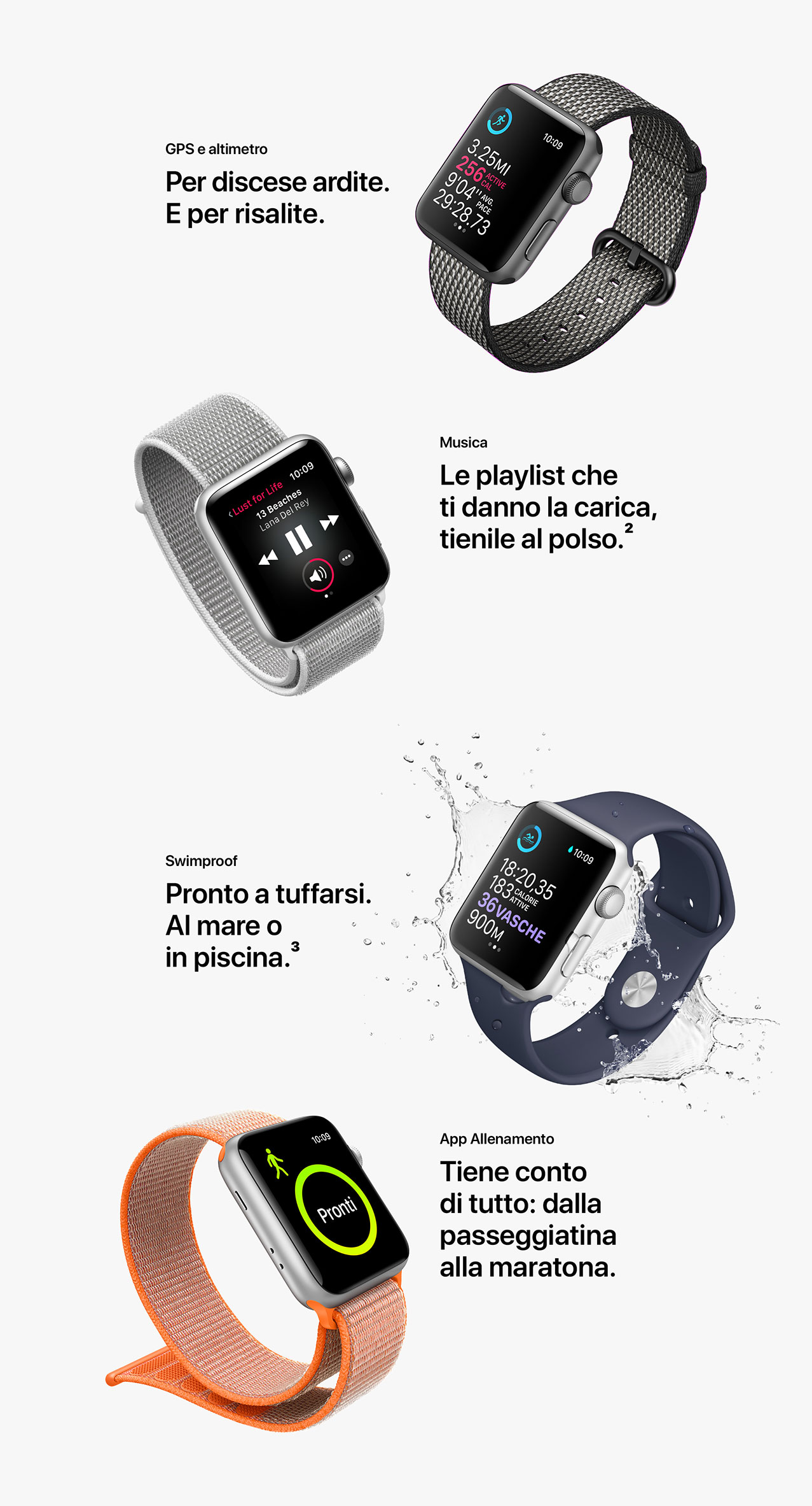 Apple Watch Series 3 - cinturini