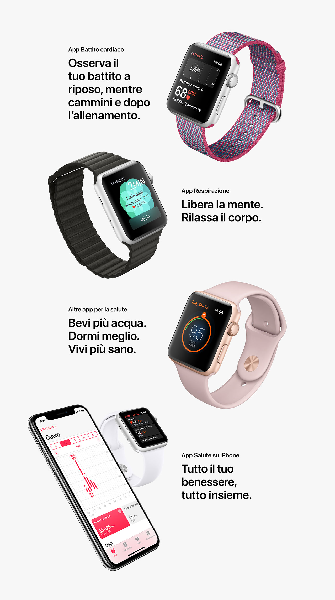 Apple Watch con iPhone X