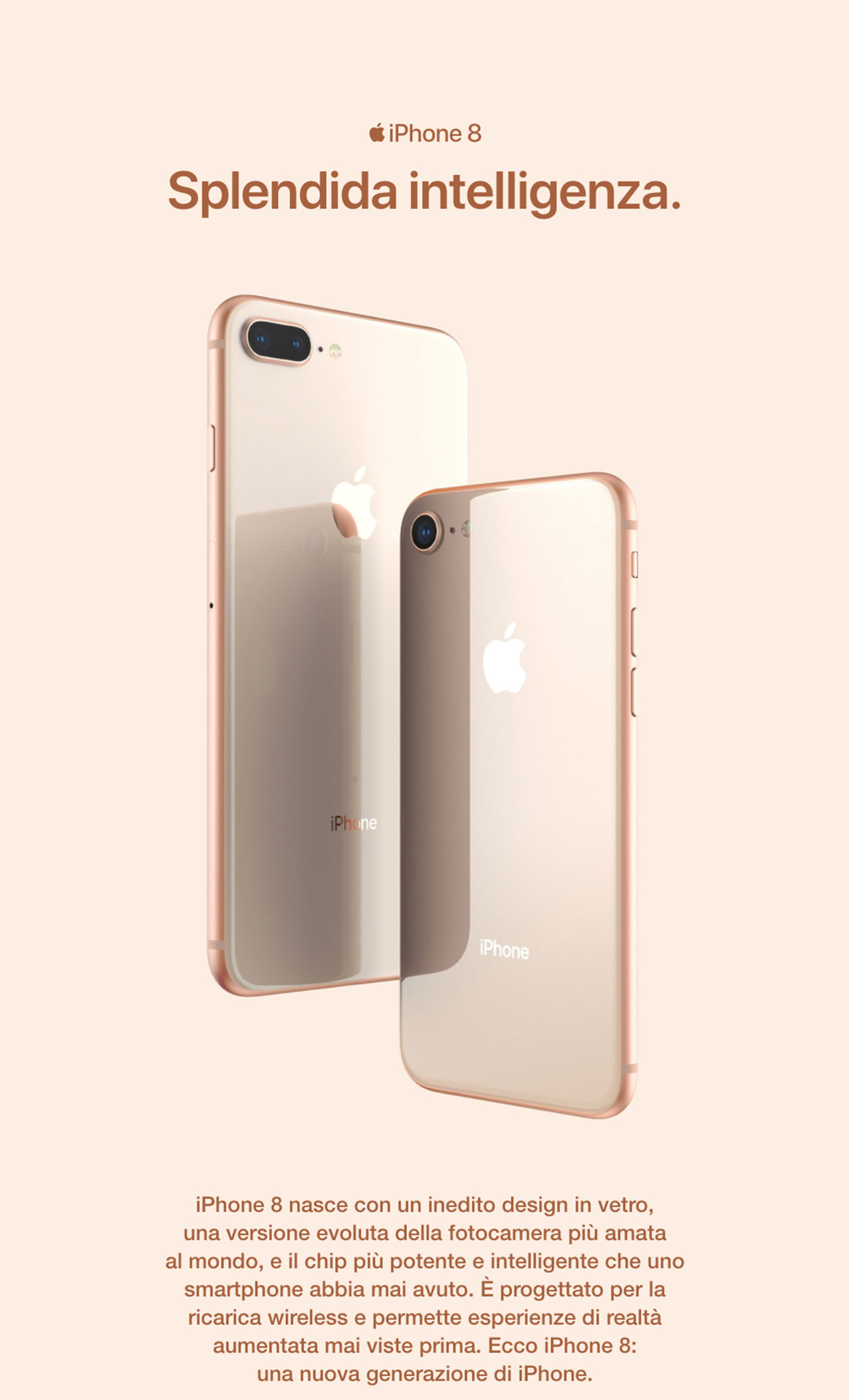 iPhone 8 splendida intelligenza