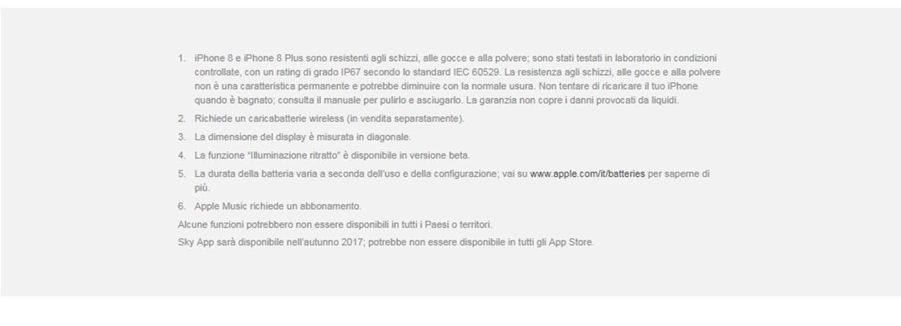 iPhone 8 - caratteristiche