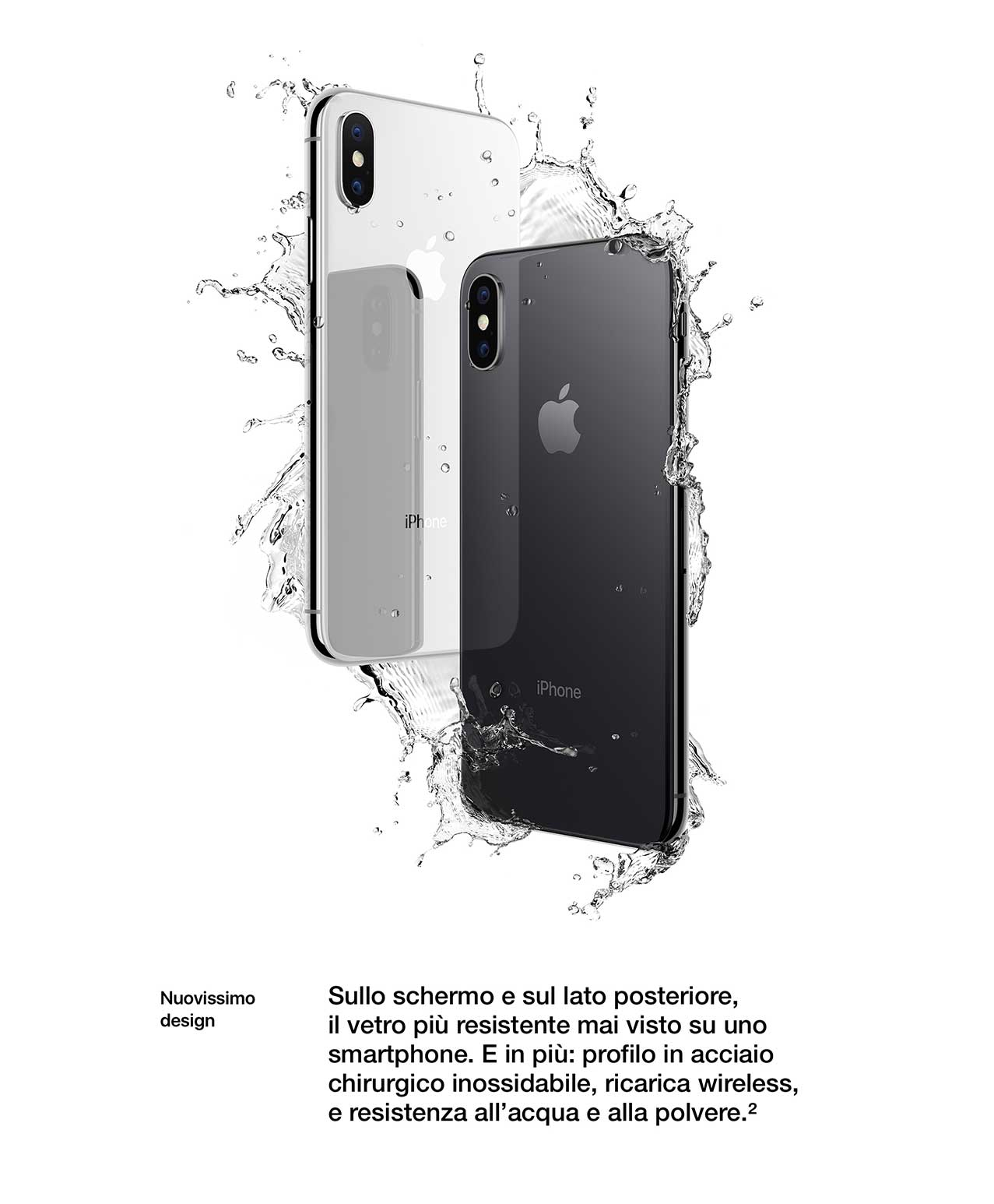 iPhone X water resistent