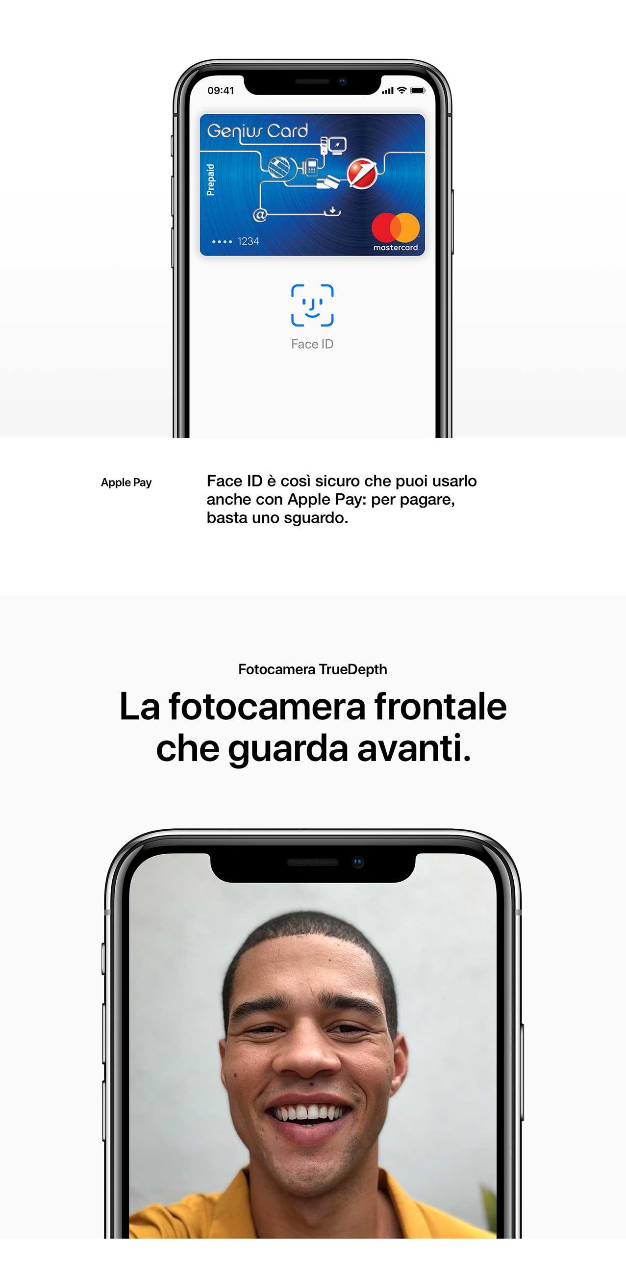 iPhone X fotocamera anteriore