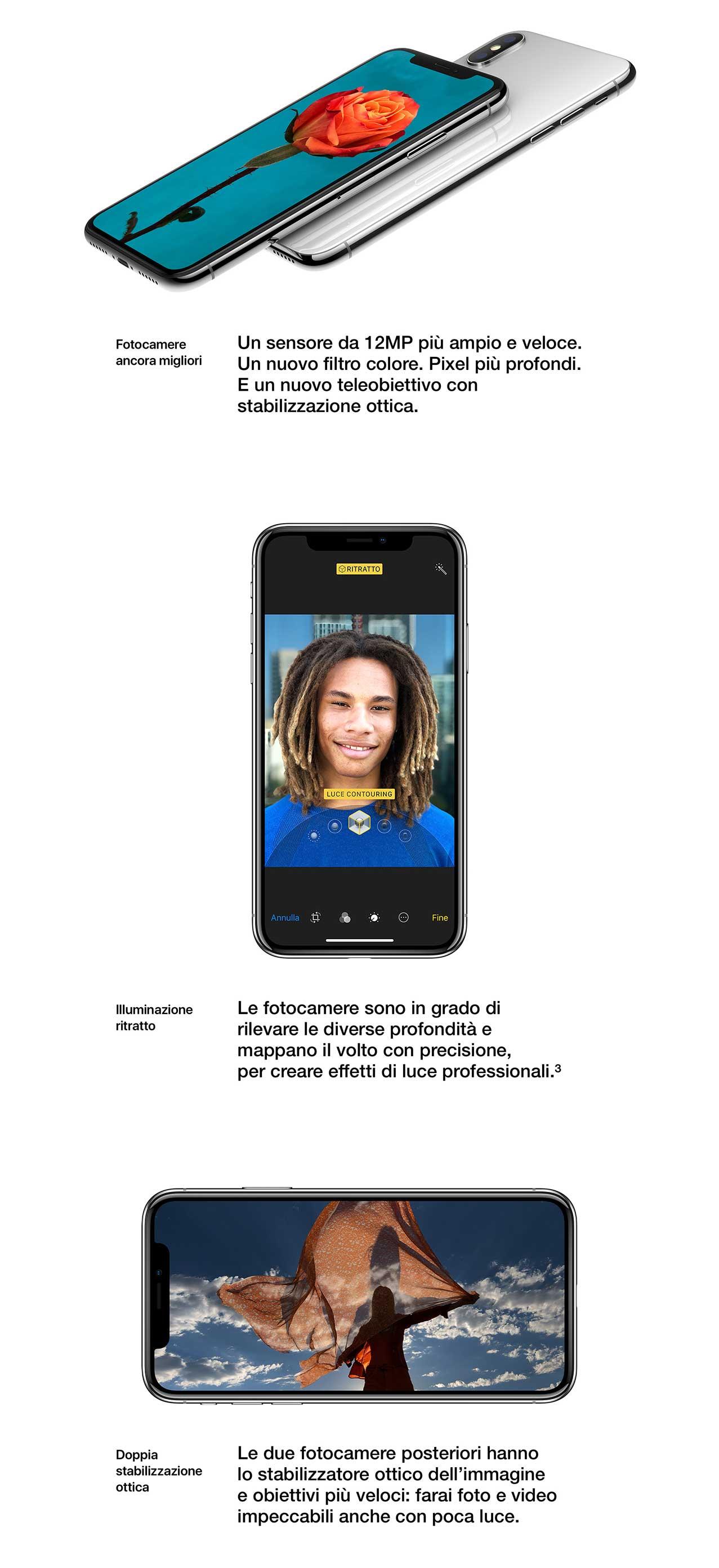 iPhone X dettagli
