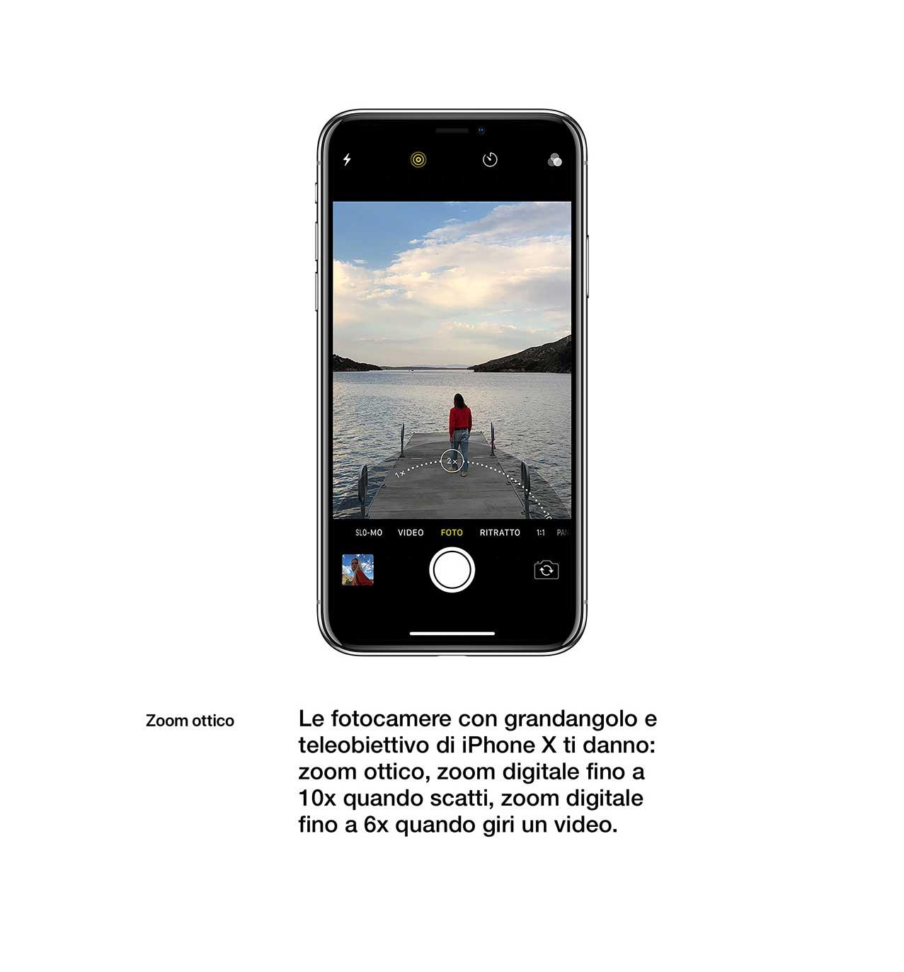 iPhone X fotocamera grandangolo