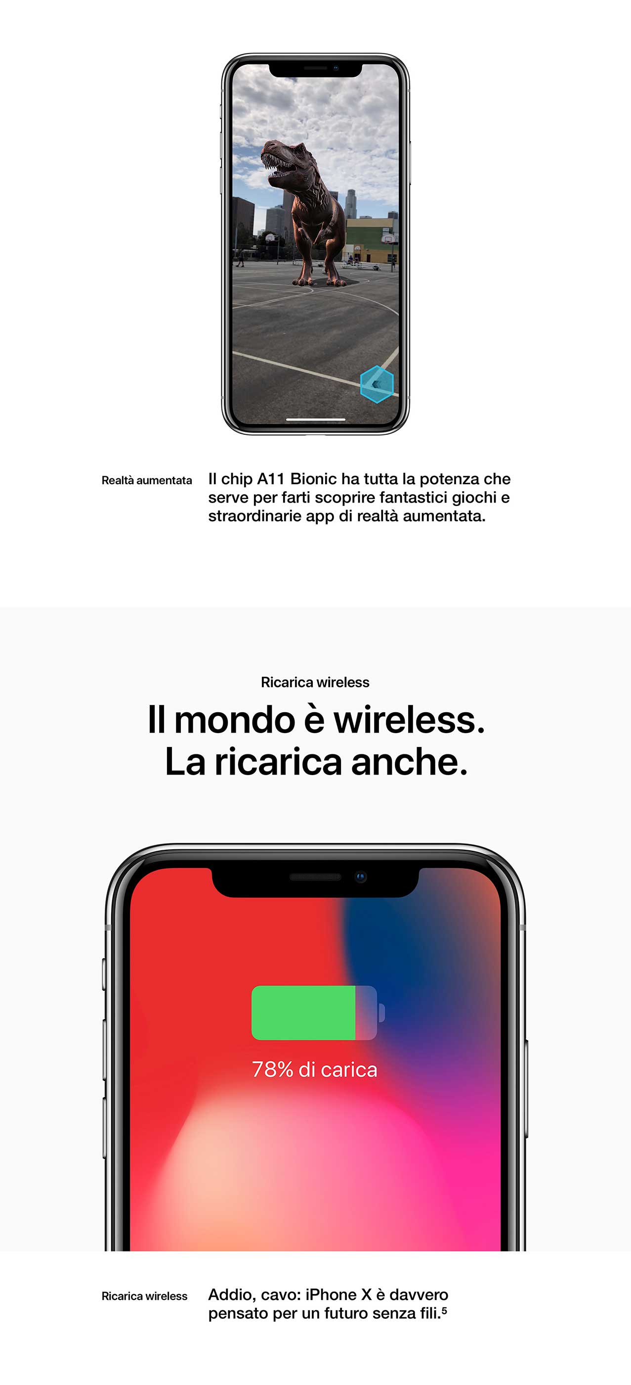 iPhone X frontale