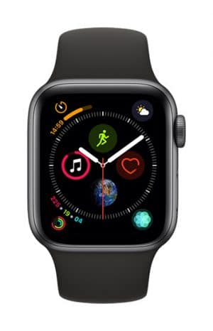 Apple Watch Series4 - 40mm - Aluminum SpaceGray - SportBand - Black