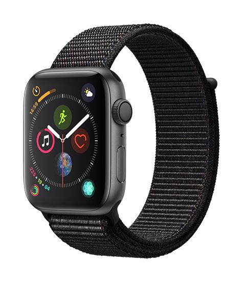 Apple Watch Series 4 - 44mm Aluminum SpaceGray - SportLoop - Black