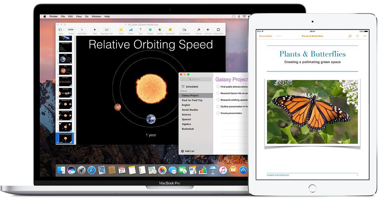 Mac book air e iPad