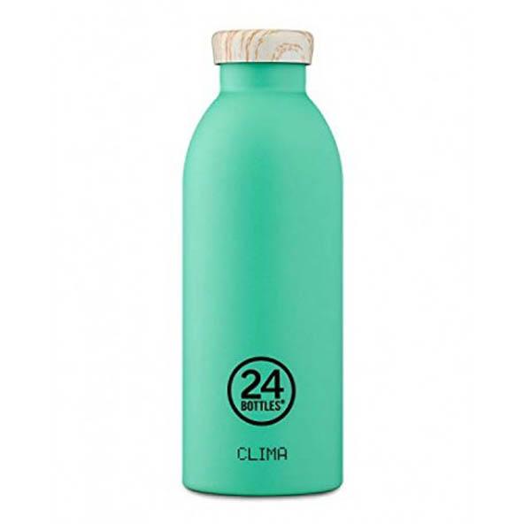 24Bottles bottiglia termica Clima Bottle 050 Mint / Wooden Lid