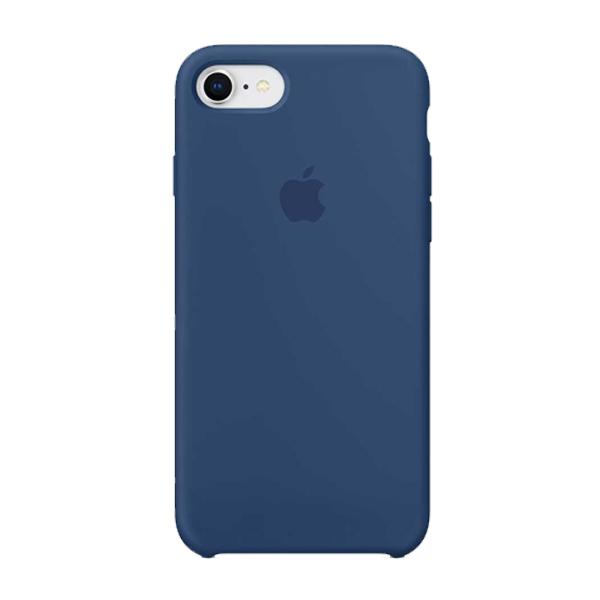 Apple Custodia In Silicone Per Iphone 8 / 7 Blu Cobalto