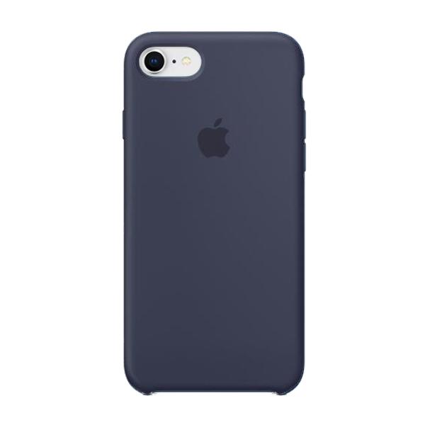 Apple Custodia In Silicone Per Iphone 8 / 7 Blu Notte