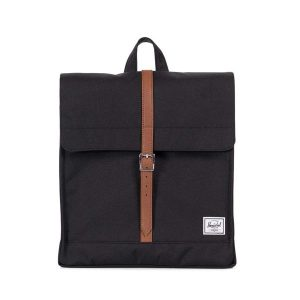 Herschel Zaino City Mid-Volume Black/Tan Synthetic Leather
