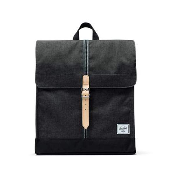 Herschel Zaino City Mid-Volume Black Crosshatch/Black