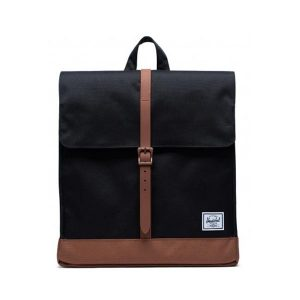 Herschel Zaino City Mid-Volume Black/Saddle Brown