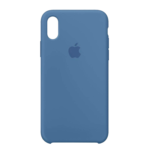 Apple Custodia In Silicone Per Iphone X Blu Denim