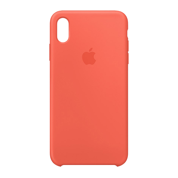 Apple Custodia In Silicone Per Iphone Xs Max Mandarino
