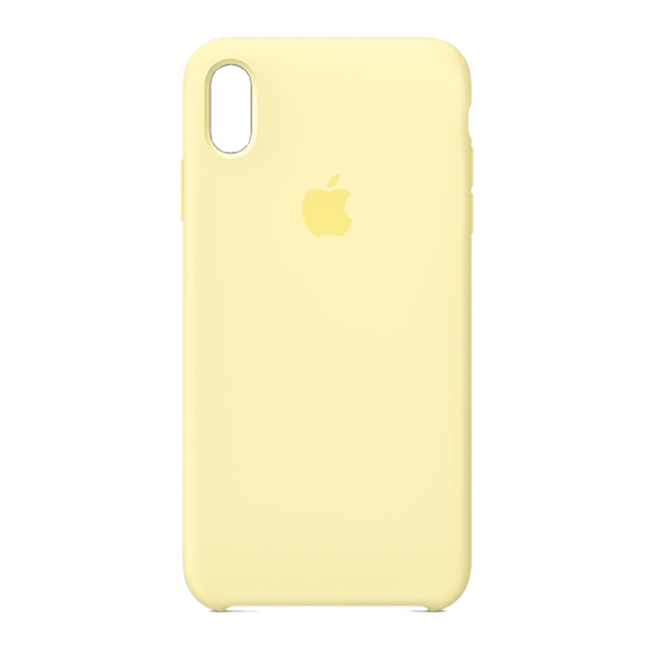 Apple Custodia In Silicone Per Iphone Xs Max Mellow Yellow