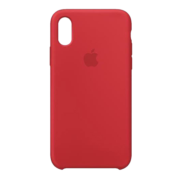 Apple Custodia In Silicone Per Iphone Xs Max Rosso