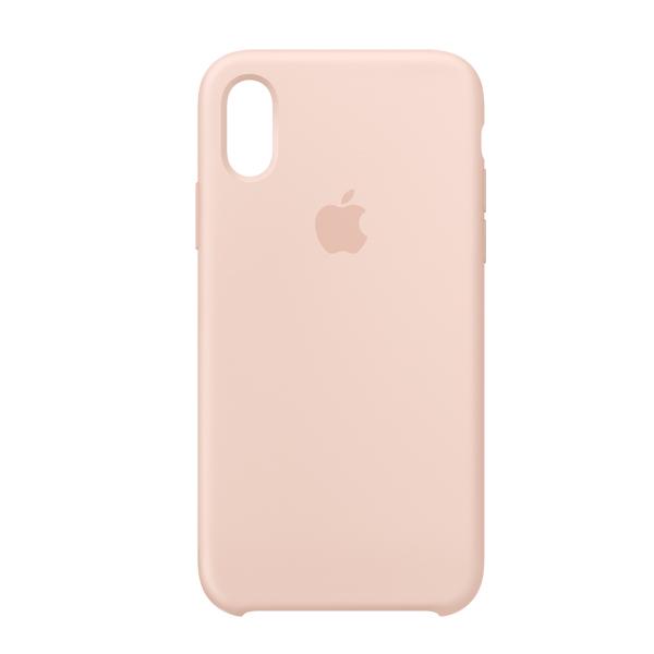 Apple Custodia In Silicone Per Iphone Xs Rosa Sabbia