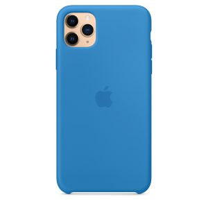 Custodia Apple in Silicone iPhone 11 Pro Max Surf Blu
