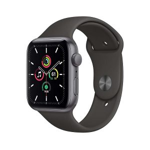 Apple Watch SE Gps 44mm Alluminio Grigio Siderale Cinturino Sport Nero