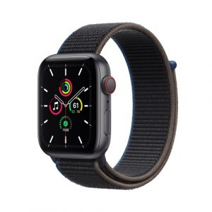 Apple Watch SE Cell 44mm Grigio Siderale Cinturino Loop Nero