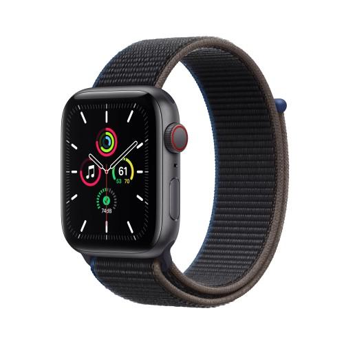 Apple Watch SE Cell 44mm Grigio Siderale Cinturino Loop Nero