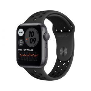 Apple Watch Nike SE Gps 44mm Grigio Siderale Cinturino Antracite Nero