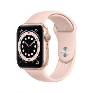 Apple Watch Serie 6 GPS 44mm Alluminio Oro Cinturino Sport Rosa Sabbia