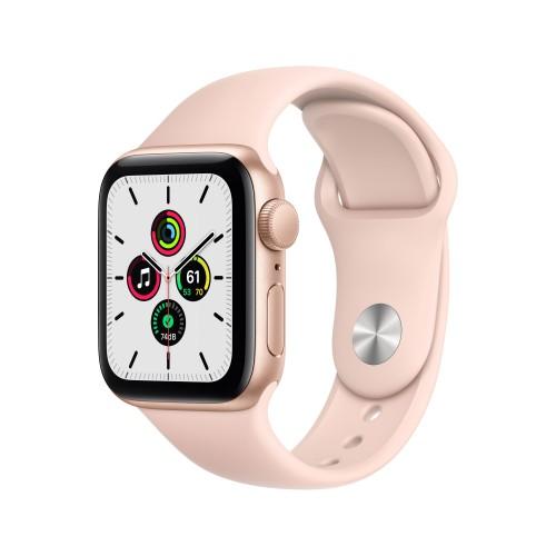 Apple Watch SE Gps 40mm Alluminio Oro Cinturino Sport Rosa Sabbia