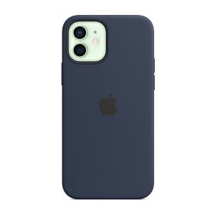 Custodia Apple Magsafe in Silicone per Iphone 12/12 Pro Deep Navy