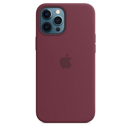 Custodia Apple Magsafe in Silicone per Iphone 12 Pro Max Prugna