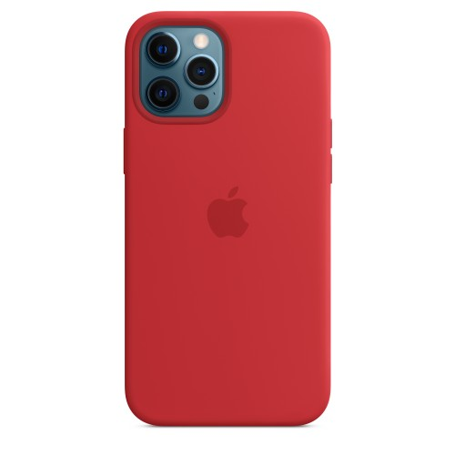 Apple Custodia Magsafe in Silicone per Iphone 12 Pro Max Product (RED)