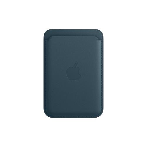 Apple portafoglio Magsafe in Pelle per Iphone Blu Baltico